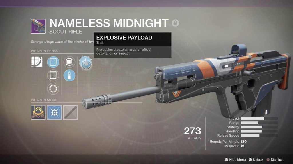 armas lendarias de destiny 2_nameless_midnight